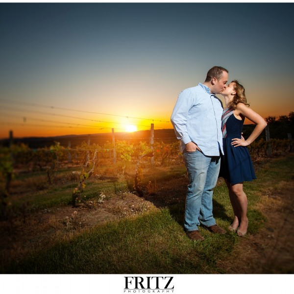 Kelly & Mike's Engagement Session – Gouevia Vineyards – Wallingford, CT {Fritz Photography}
